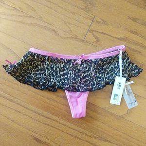 Playboy Animal Print Panty NWT Small